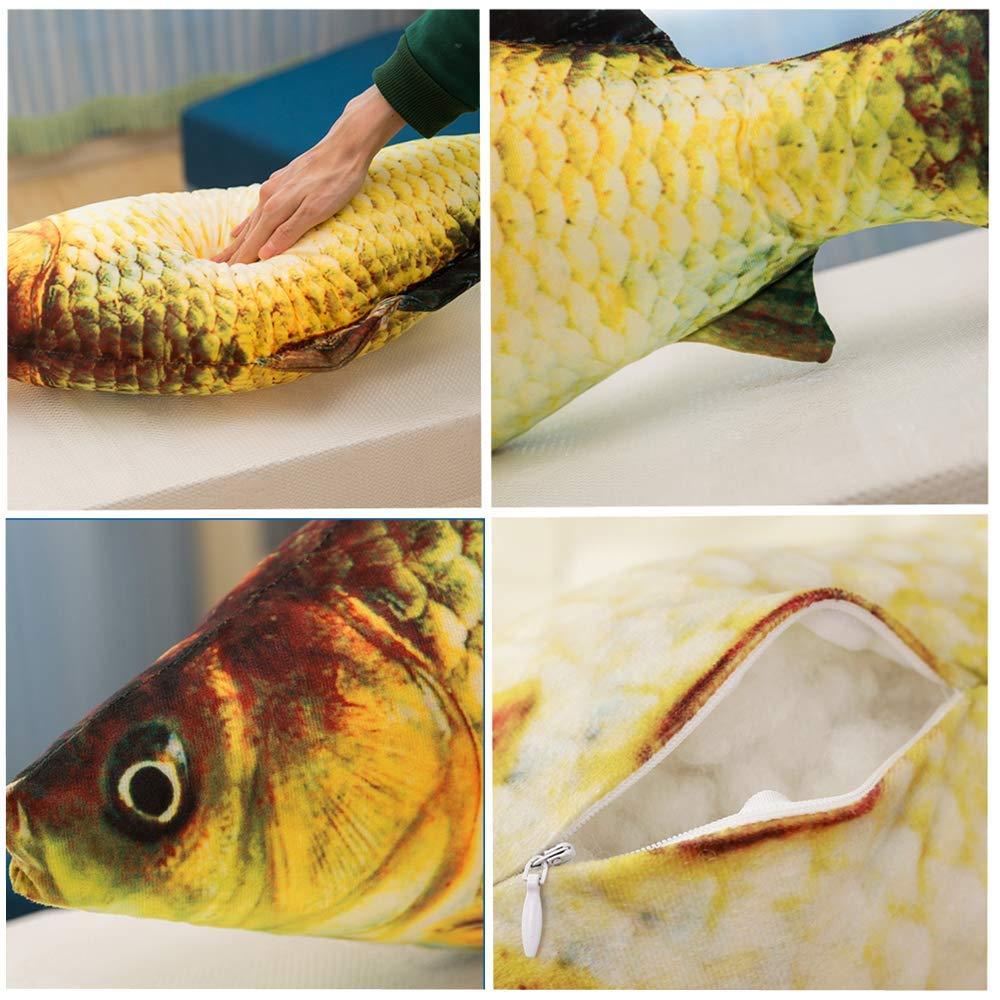 "23.6/"" Soft Lucky Fish Carp Doll Plush Toy Stuffed Home Throw Pillow Cushion Toys"