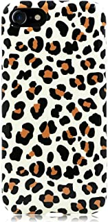 GoldSwift Flexible Soft Rubber Gel Case for iPhone 8, iPhone 7, iPhone 6S and iPhone 6 (Brown Leopard Print)