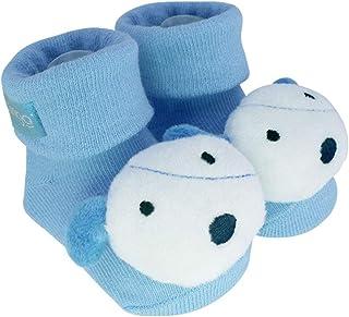 Pantufa com chocalho cachorro azul, Clingo, Azul