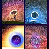 Hallelujah Steel Wool Firework,Rainbow Steel Wool Firework, Celebration Flame Magic Fire Trick Simulation New-Year Party Smokeless Sparks Fairy Firework for Decorations - Gray