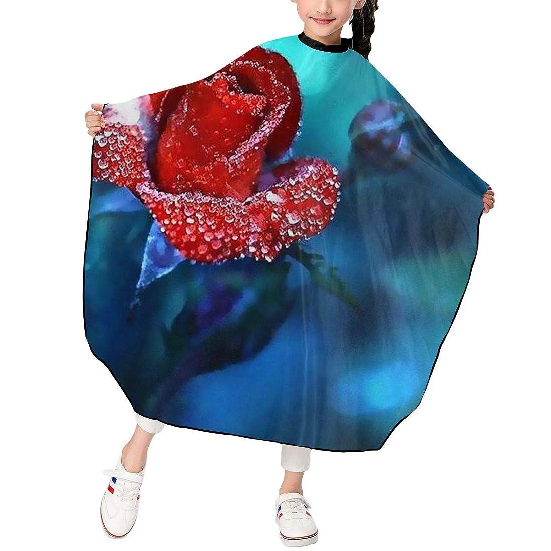 明るくする銀河ロシア夜の咲きバラ 真っ赤 水滴 散髪ケープ ヘアーエプロン 子供 ヘアカット 自宅 美容院 理髪 便利 散髪 撥水 静電気防止 柔らかい 滑らか 高級感 ファッション 男女兼用 ギフト