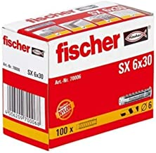 FISCHER plug SX, maat 6 x 30 mm, met flens, verpakking van 100 stuks,