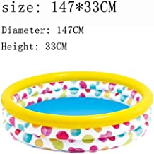 Piscina Inflable, bañera Inflable Piscina de 147 cm Piscina al Aire Libre Piscina Cubierta Juguete (Color: Bomba con Aire)