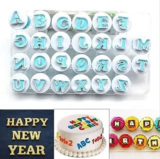 26 Pack Plastic DIY Upper&Lowercase Alphabet Cookie Mould Cutter, Fondant Craft Embosser Biscuit Baking Mold for Cake Decorating Stamp Impress (Upper Alphabet)