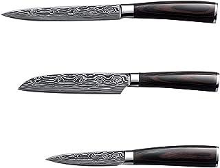 Couteaux de cuisine Damascus Dapattern Chef Couteau Sharp Santoku Cleaver Sancing Utility Couteaux Outil boucher hachoir (...