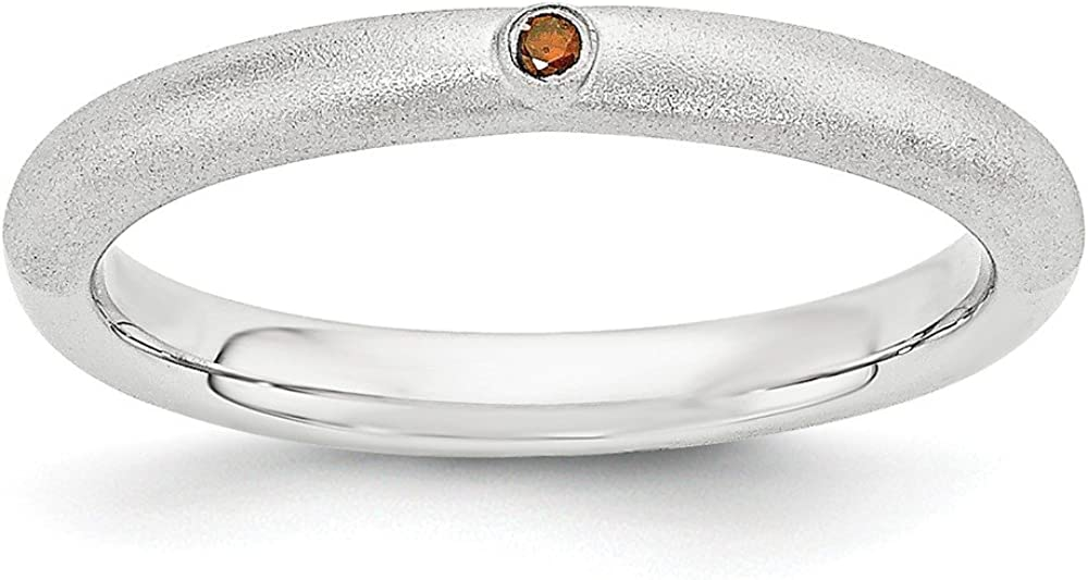 Jewels By Lux Sterling Silver Red Stackable Expressions w Award Diamon Max 84% OFF