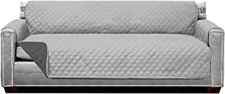 Best Sofa Shield Original Patent Pending Reversible X-Large Oversized Sofa Protector, Many Colors, Seat Width to 78 Inch, Furniture Slipcover, 2 Inch Strap, Couch Slip Cover Throw for Pet, Lt Gray Charcoal Review