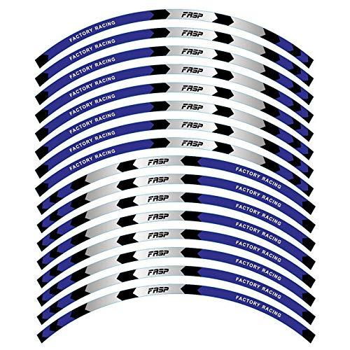 16pcs 17'18' tiras motocicleta rueda de automóvil rueda etiqueta etiqueta reflectante llanta rim cinta moto automóvil calcomanías universal ajuste Accesorio Pegatinas (Color : FL017)