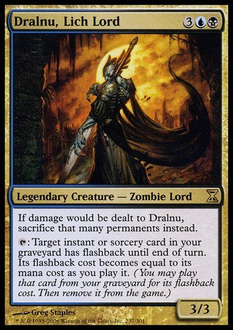 Magic The Gathering - Dralnu, Lich Lord - Time Spiral