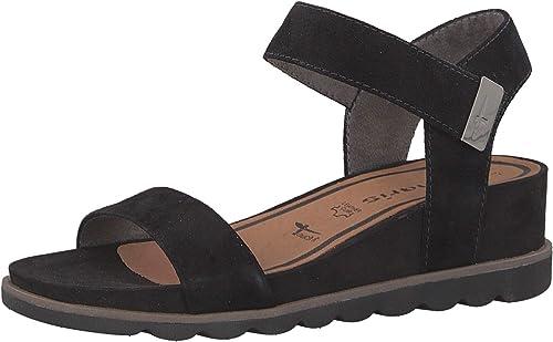 Tamaris 1-1-28031-22 Femme Sandales compensées,Sandales,Sandales compensées,Chaussures d'été,Confortable,Plat,Touch-IT