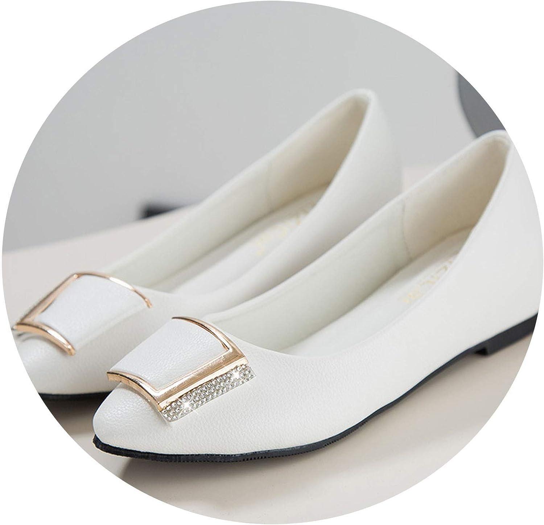 JIESENGTOO Increase Height Flat Women shoes Spring Autumn Comfort Pointed Toe Slip On Women Flats 2019