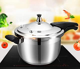 Stainless steel pressure cooker household rice cooker soup pot steamer soup pot slow cooker gas stove induction cooker general for kitchen hotel 3L-8L (Color : Silver, Size : 3L)