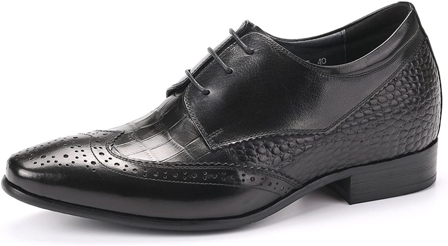 FARYM Men's European Brogue Derby Formal shoes in Real Leather