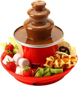 Global Gourmet Chocolate Fountain Mini Fondue Set With Party Serving Tray Included | Electric 3-Tier Machine with Hot Melt...