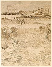 Arles View from the Wheatfields Poster Print by Vincent Van Gogh (22 x 28)