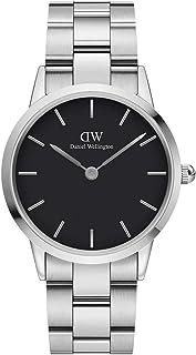 Daniel Wellington DW00100204 Stainless Steel Black-Dial Round Analog Watch for Women - Silver