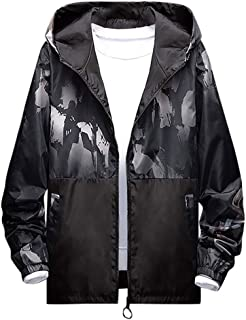 Suncolor8 Men Stand Collar Zip Up Hooded Faux Fur Lined Plus Size Coat Jacket Outwear