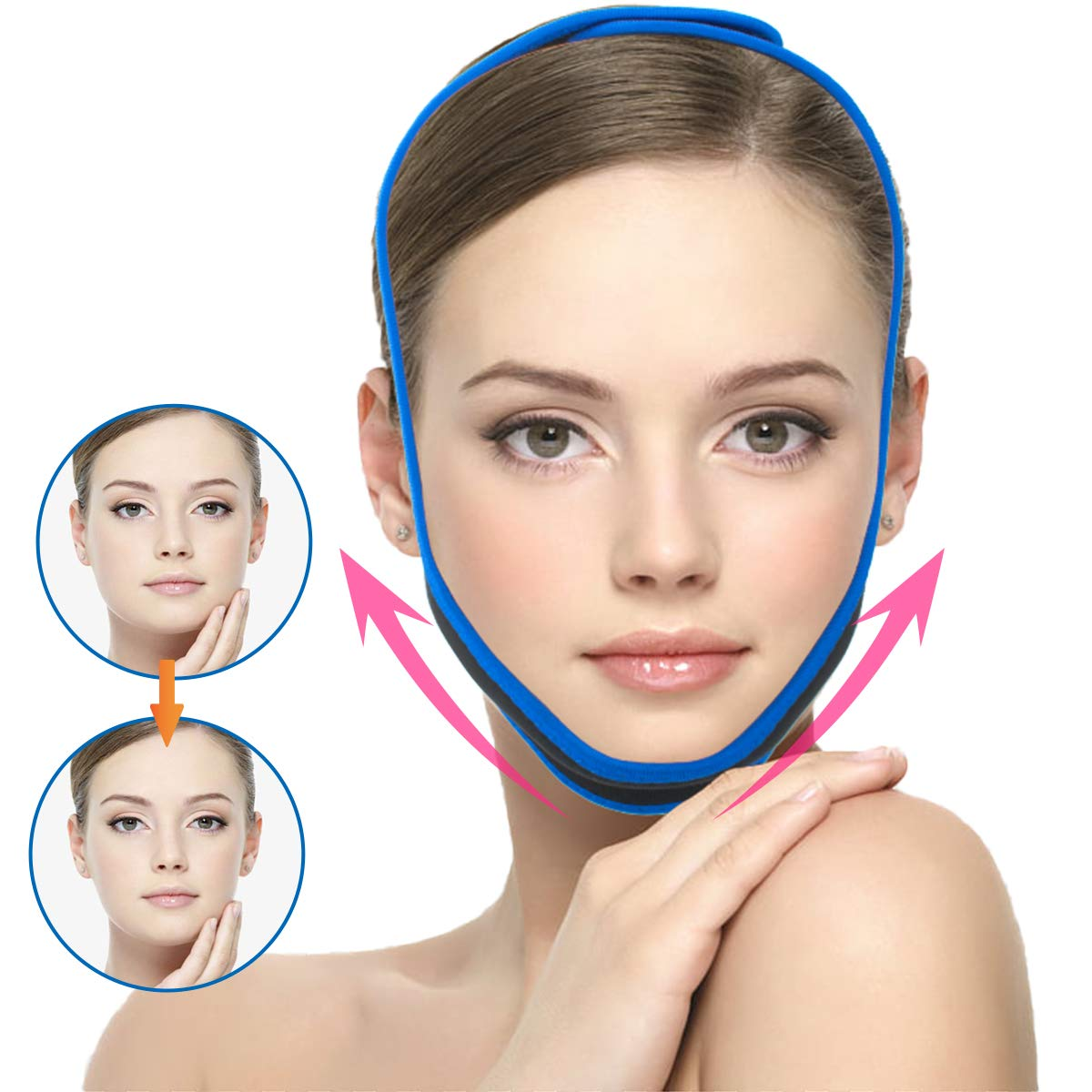 Facial Slimming Max 68% OFF Strap Chin Up San Francisco Mall Double Reducer Patch Face Lif