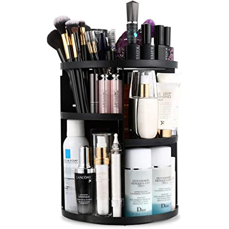 Jerrybox 360 Rotating Makeup Organizer, Vanity Organizers and Storage for Bedroom, Makeup Carousel Spinning Holder Storage Rack with 7 Layers Large Capacity