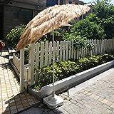 WWWRL Parasol de Plage Parapluie | Surface Diamètre 1.8m | Simulation Parapluie de Paille pour Jardin/Balcon/Terrasse/Cour | Hauteur 1.8m | Parasol Extérieur sans Base, Naturel