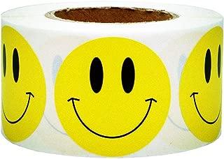 SMARSTICKER Yellow Smiley Face Happy Stickers 2