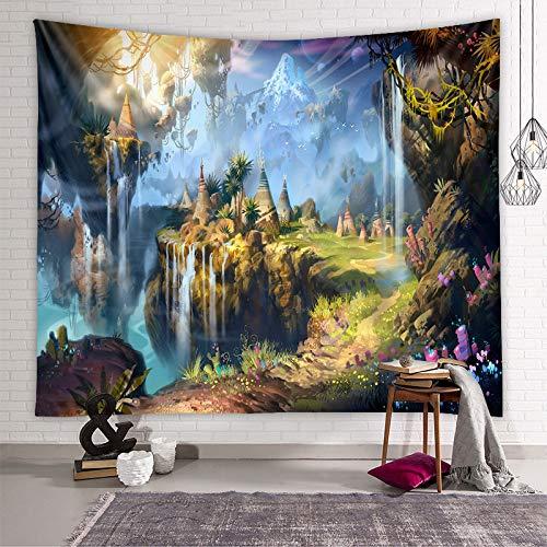 LZYMLG Tapiz de fondo para decoración de dormitorio, dormitorio, sala de estar, tela para colgar en casa de familia, cuento de hadas, 100 x 150 cm