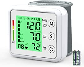 Automatic Wrist Blood Pressure Monitor,Ivkey Blood Pressure Cuff with Large Backlight LCD Display-BP Monitor, BP Cuff for Detecting Irregular Heartbeat-2 * 99 Memories, 2AAA and Carrying Case Include