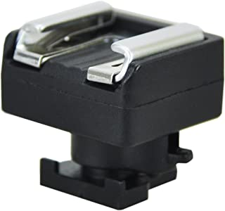 JJC Standard Hot Shoe Adapter Flash Hot Shoe Mount Adapter for Canon Camcorder with Mini Advanced Shoe VIXIA GX10 HF S10 S20 S30 S100 S200 HF20 HF21 HF200 LEGRIA HF G40 G30 G20 G10 M30 M31 M32