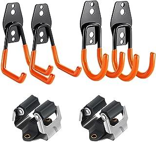 3-H Crochet de Rangement de Garage 4PC pour Accrocher les échelles/vélos/outils de Jardin, Port Balai Mural, Accroche Bala...