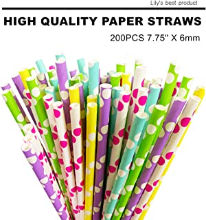 HOPELF 200 PCS High Quality Paper Straws Safe Healthy for Drinking,Party Decorations,Birthdays, Weddings, Baby Showers, Celebrations and Cake Making.(Color Style:Honey)