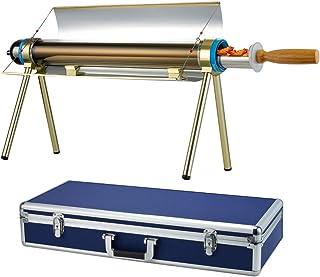 BITOWAT Grillgrill rostfritt stål bärbara högpresterande solgrillar ugnar som viks ihop med resväska campingspis tillbehör...
