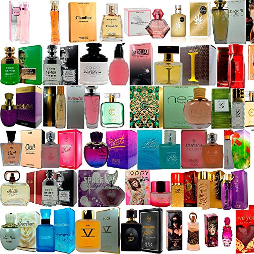 Set de 3 (tres) Perfumes Franceses Para Mujer 80 a 100ml cada uno Selección Noche y Día. Envasados en forma Individual