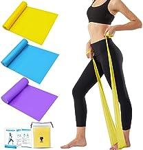 Tompig Bandas Elasticas Fitness Set de 3, Cintas Elásticas con 3 Niveles de Resistencia, Bandas Elásticas para Fisioterapia, Yoga, Pilates, Fitness,Entrenamiento en el hogar
