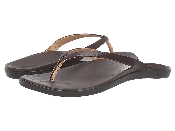 Ho'opio Leather  Shoes (Dark Java/Dark Java) Women's Sandals