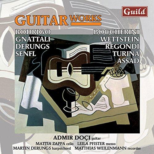 Admir Doçi - Rodrigo: Tres canciones españolas, Aranjuez, ma pensée - Turina: Sevillana - Boccherini: Introduction & Fandango - Gnattali: Sonata for guitar & cello - Senfl: Carmen