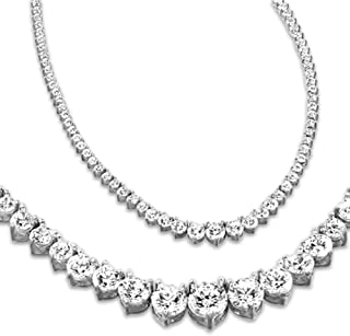 Best diamond tennis necklace womens Reviews