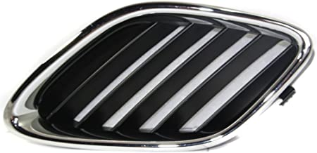 Grille for Saab Saab 9-3 03-07 Outer Chrome Shell/Painted-Black Insert Convertible/Sedan Right Side