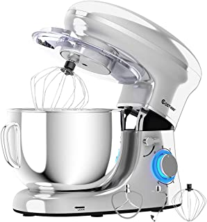 COSTWAY Stand Mixer, 660W Electric Kitchen Food Mixer with 6-Speed Control, 6.3-Quart Stainless Steel Bowl, Dough Hook, Be...