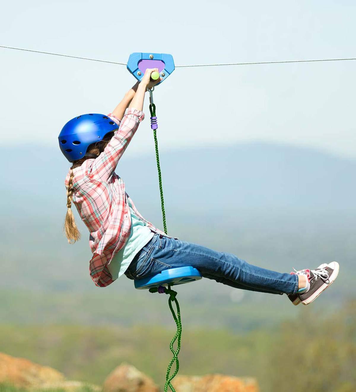 HearthSong%C2%AE 150 Foot Blue Zipline Kids
