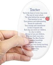 CafePress Teacher Thank You Sticker (Oval) Oval Bumper Sticker, Euro Oval Car Decal