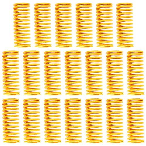 CKANDAY 20 Pack Molle per Stampante 3D, 0,31 in OD 0,98 nella Lunghezza Stampata Bed Molle stampi Molle M3 Carico Leggero a Vite per Creality CR-10 10S S4 Ender 3 Scheda Madre Fondo riscaldante