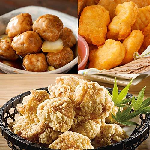 [スターゼン] チキンナゲット 竜田揚げ 肉だんご 3kg セット 業務用 肉 食品 レンジ調理 お惣菜 冷凍 お弁当 おかず おつまみ