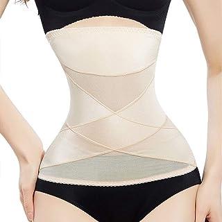 مشد الخصر لتنحيف الجسم وتنحيف الجسم الجسم ملابس داخلية للنساء حزام تخسيس تصحيحي (اللون: مشمش، الحجم: M)