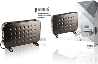 König KN-CH10 Negro 2000W - Calefactor (1,5 m, Piso, Negro, 2000 W, 750 W, 220-240)