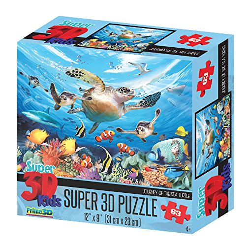 Howard Robinson Super 3D Journey of the Sea Turtle Puzzle (63-Piece)