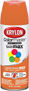 Krylon K05241107 ColorMaster Paint + Primer, Gloss, Pumpkin Orange, 12 oz.