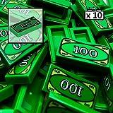 LEGO 10 x 100 Dollar - Ladrillo Verde Dinero - Accesorios City