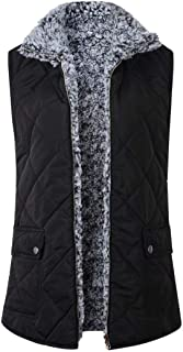 UniSweet Women's Padded Vest Stand Collar Lightweight with Zip Quilted Pockets Outwear Gilet