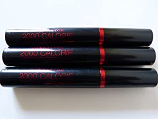 3 x Max Factor, 2000 Calorie, Curved Brush, Volume & Curl, Black Mascara, 9ml