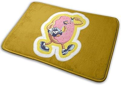 Donuts Love Carpet Non-Slip Welcome Front Doormat Entryway Carpet Washable Outdoor Indoor Mat Room Rug 15.7 X 23.6 inch